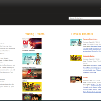 Online Movie Ticket Booking System in php