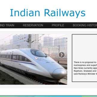 Railway Reservation System in php